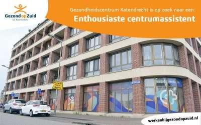 Gezondheidscentrum Katendrecht zoekt een enthousiaste Centrumassistent!